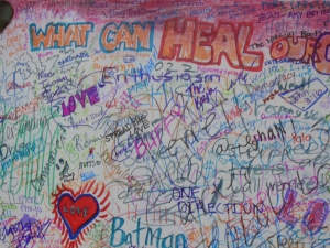 When asked what can heal our community